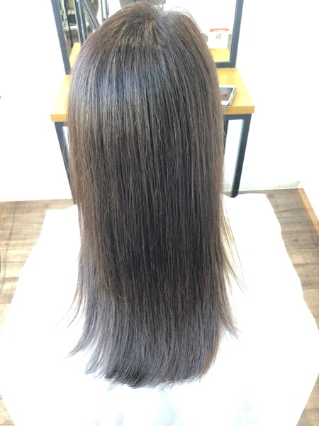 大分県別府市 白髪染めでも透明感のあるヘアカラー
