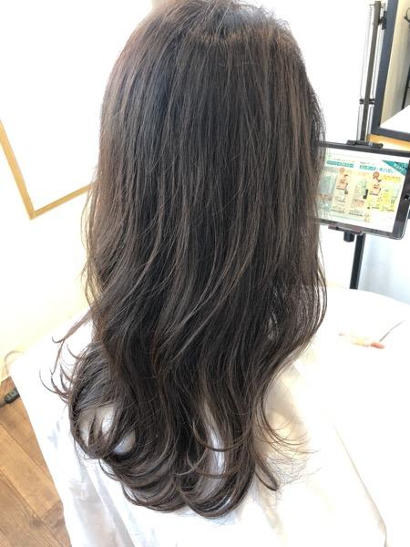 大分県別府市白髪染めでも透明感のある髪色