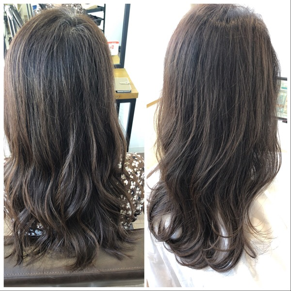 白髪染めだけと透明感のあるヘアカラー