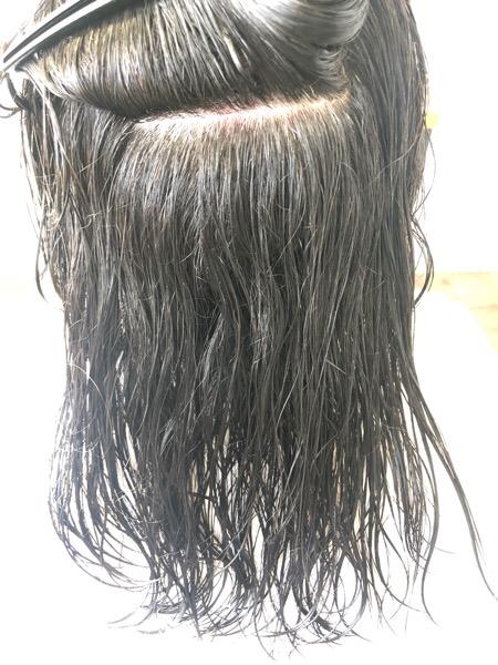 大分県別府市 くせ毛のビフォー写真