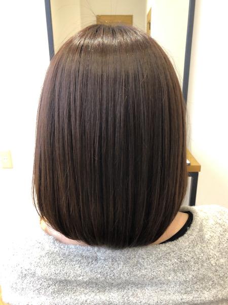 大分県別府市 オッジィオットトリートメント効果でアッシュベージュの艶髪 アフター
