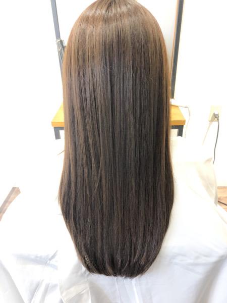 大分県別府市 ハイトーンのヘアカラーでもオッジィオットトリートメントとの組み合わせで艶髪カラー アフター