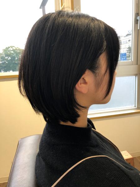 大分県別府市 ショートカットは丸顔さんや面長さんなどいろんな悩みを解決出来るヘアスタイルです! アフター サイド