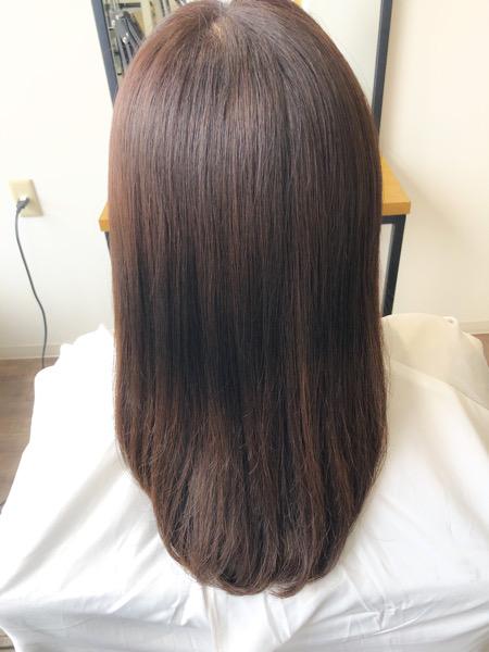 大分県別府市 ピンクっぽいラベンダーベージュの艶髪 アフター