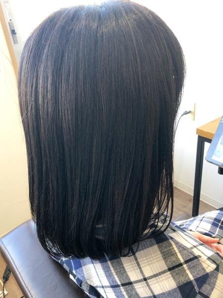 大分県別府市 髪の毛がオレンジっぽくなるのが嫌な方にオススメのヘアカラー アッシュグレーの艶髪ヘアカラー アフター