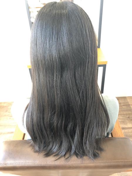 大分県別府市 自然な縮毛矯正でサラサラな髪質改善ストレート ビフォー