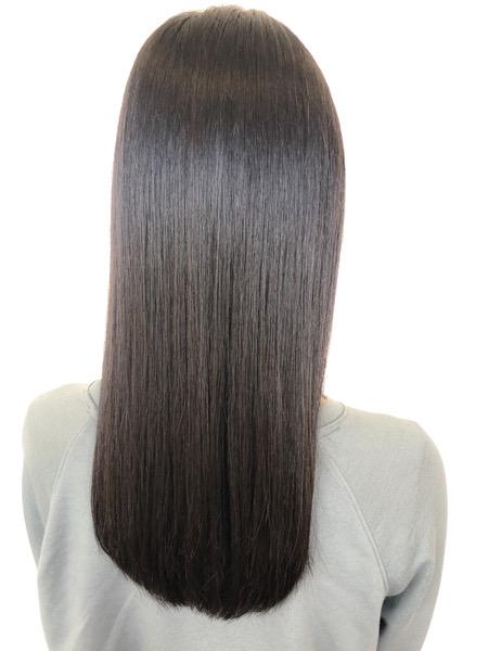 大分県別府市 自然な縮毛矯正でサラサラな髪質改善ストレート アフター