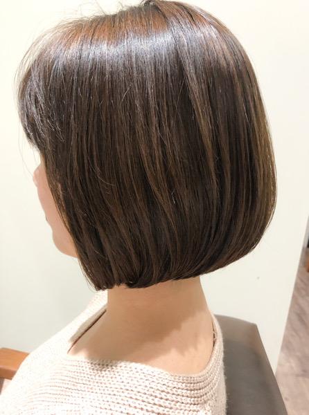 ショートから伸びたヘアスタイルをボブスタイルにマイナーチェンジ アフター
