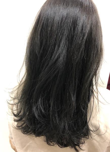 大分県別府市 人気上昇中!ネイビーっぽいグレージュの髪色【ネビージュ】ヘアカラー アフター