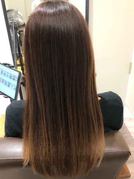 大分県別府市 くせ毛で広がる髪の毛を髪質改善な縮毛矯正で収まりのよい髪の毛に アフター