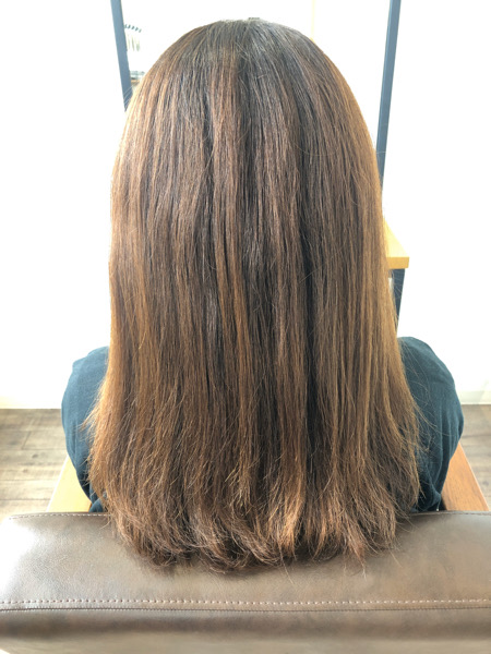 大分県別府市 ボリュームが出て広がる髪の毛をストカールでボリュームダウンして自然なワンカールに ビフォー