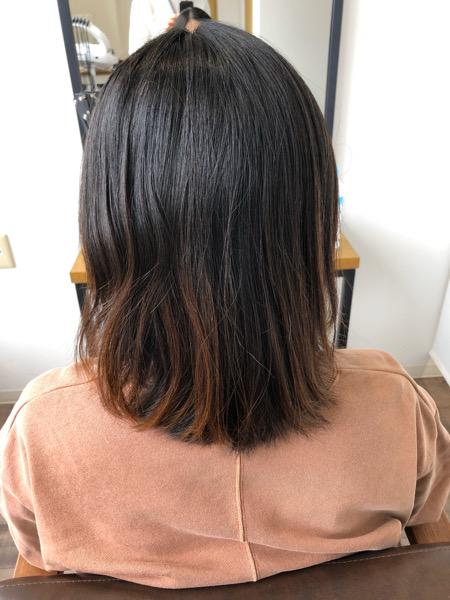 大分県別府市 産後なかなか美容室に行けずボサボサになった髪の毛を艶髪カラーとトリートメントでサラサラな艶髪ヘアーに ビフォー