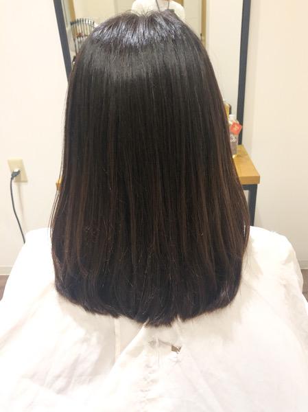 大分県別府市 くせ毛の悩みは自然な縮毛矯正で解決! アフター