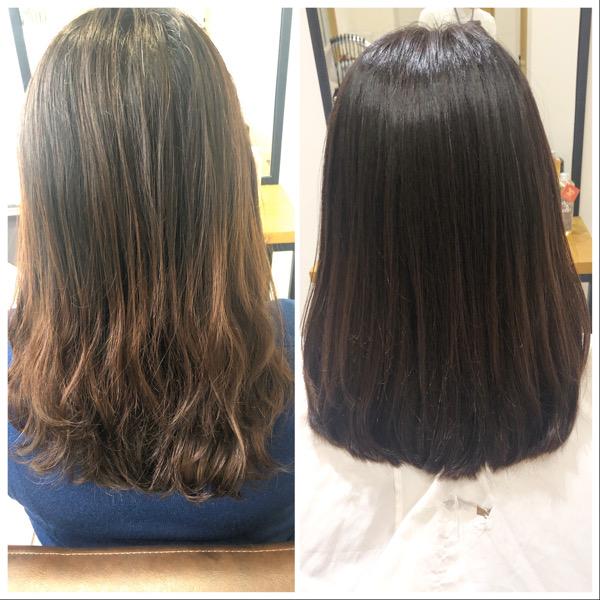 大分県別府市 くせ毛の悩みは自然な縮毛矯正で解決!ビフォーアフター