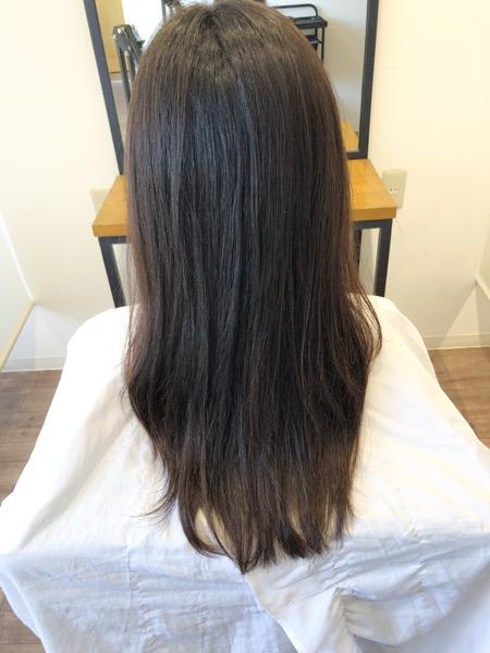 大分県別府市 髪の毛の広がり、パサつきが気になる方にもオッジィオットトリートメントは効果的です! アフター