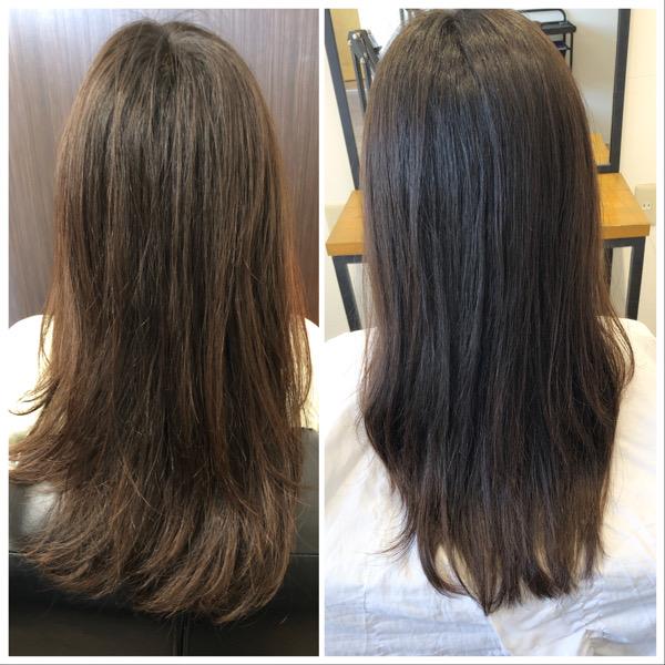 大分県別府市 髪の毛の広がり、パサつきが気になる方にもオッジィオットトリートメントは効果的です! ビフォーアフター