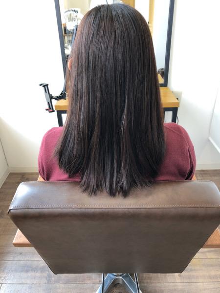 大分県別府市 オレンジっぽい髪色から透け感のあるベージュヘアカラー ビフォー