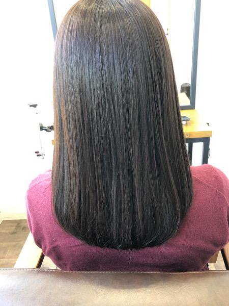 大分県別府市 オレンジっぽい髪色から透け感のあるベージュヘアカラー アフター