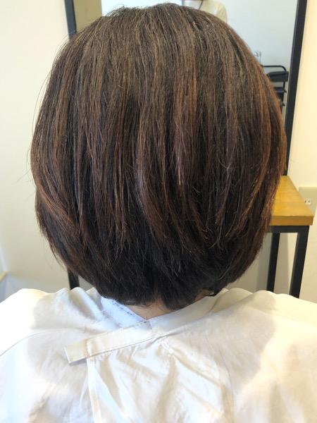 大分県別府市 くせ毛、多毛で膨らむ髪の毛をカットだけでボリュームを抑える方法 ビフォー