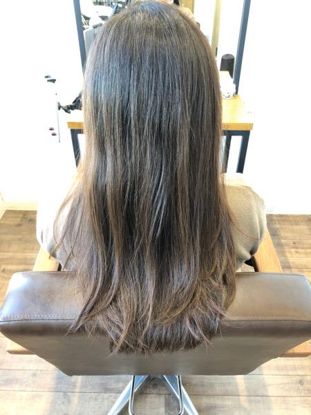 大分県別府市 ワンカールのストカールで上品なツヤ髪スタイル ビフォー