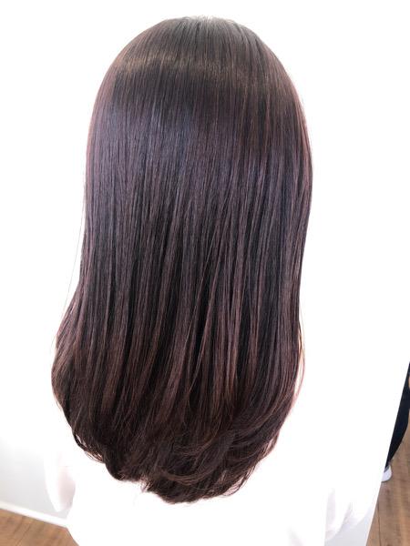 大分県別府市 大人っぽいピンク系ヘアカラー『ピンクローズ』の艶髪カラー アフター