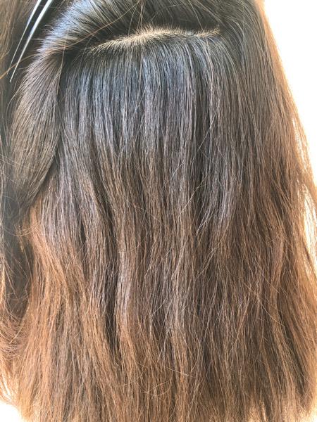 大分県別府市 梅雨になる前にストカール(縮毛矯正+デジタルパーマ)で扱いやすい髪の毛に ビフォー