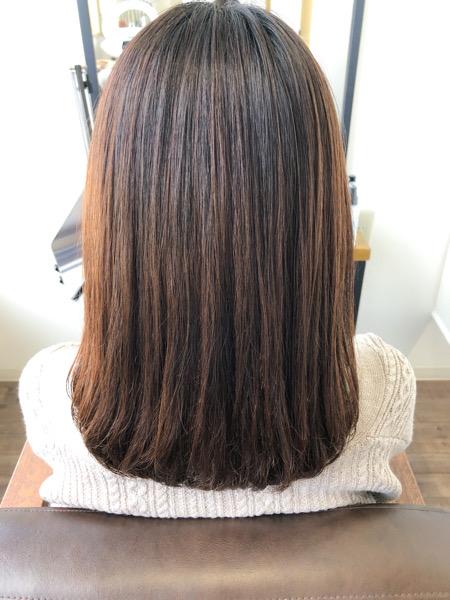大分県別府市 梅雨になる前にストカール(縮毛矯正+デジタルパーマ)で扱いやすい髪の毛に アフター