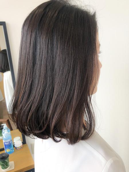大分県別府市 ストカールなら縮毛矯正でも自然なカールがついたヘアスタイルになります! アフター