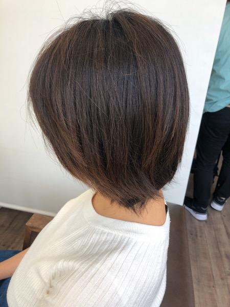 大分県別府市 産後忙しくてカット出来なくて伸びた髪の毛をばっさりカット ビフォー