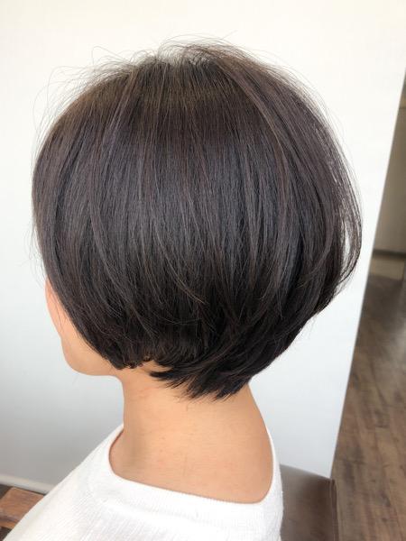 大分県別府市 産後忙しくてカット出来なくて伸びた髪の毛をばっさりカット アフター