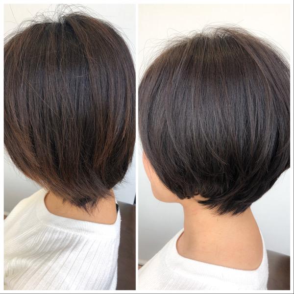 大分県別府市 産後忙しくてカット出来なくて伸びた髪の毛をばっさりカット ビフォーアフター