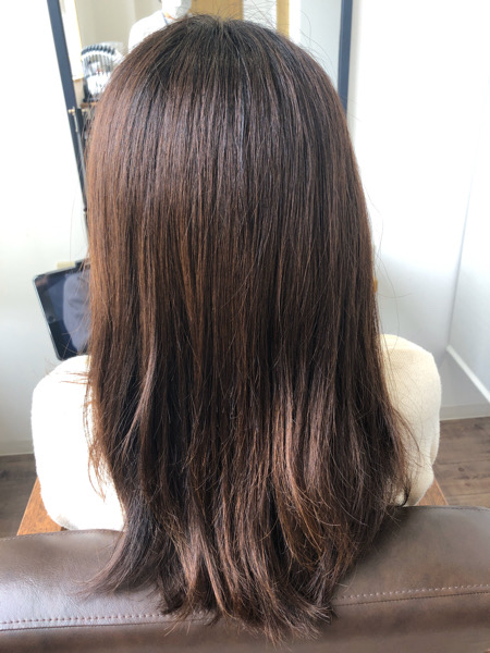 大分県別府市 くせ毛でボリュームの出やすい髪の毛をストカールでゆるーいパーマ風スタイル ビフォー