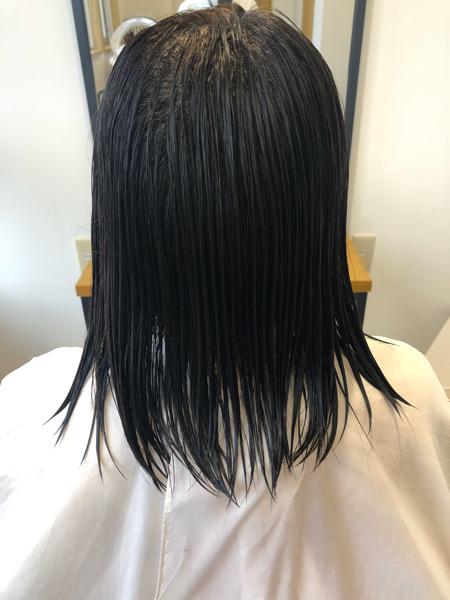 大分県別府市 コロナ自粛もあり美容室に行けず伸びた髪の毛をばっさりカット ビフォー