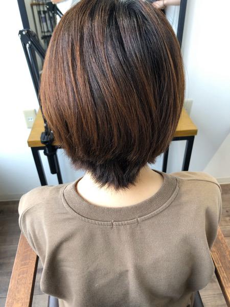 大分県別府市 髪の毛が柔らかく見えるベージュ系ヘアカラー ビフォー