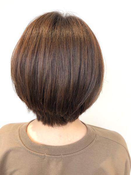 大分県別府市 髪の毛が柔らかく見えるベージュ系ヘアカラー アフター