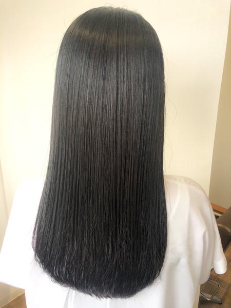 大分県別府市 不自然な縮毛矯正が嫌な方はナチュラルな仕上がりの縮毛矯正で髪質改善ストレート アフター