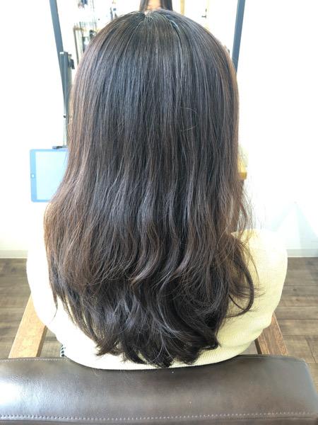 大分県別府市 白髪もしっかり染めて艶髪カラーに【イルミナカラー】 ビフォー