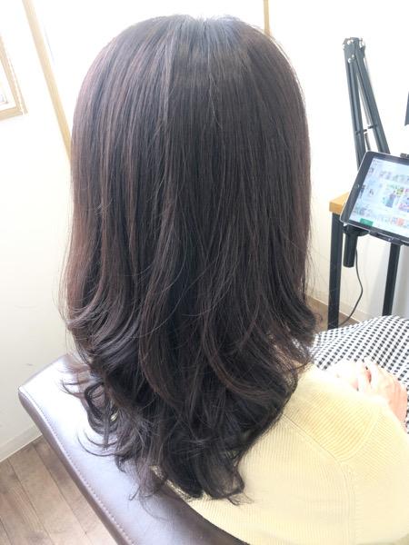 大分県別府市 白髪もしっかり染めて艶髪カラーに【イルミナカラー】 アフター