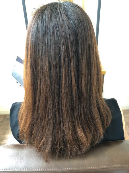 大分県別府市 ヘアカラーが明るく抜けやすい方へ〜暗めでも透明感のあるダークアッシュグレージュの髪色 ビフォー