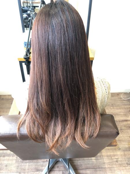 大分県別府市 白髪もしっかり染めてローズピンクの髪色【イルミナカラー】 ビフォー