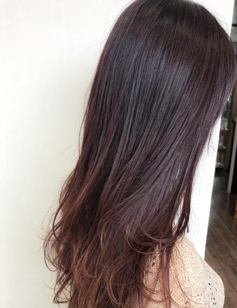 大分県別府市 白髪もしっかり染めてローズピンクの髪色【イルミナカラー】アフター