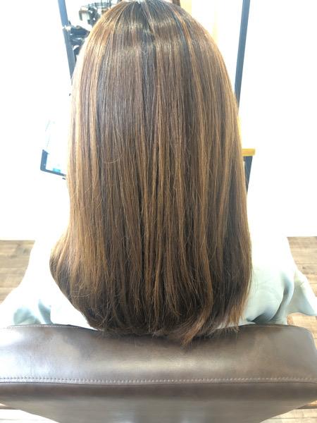 大分県別府市 夏におすすめ!明るめアッシュグレージュの艶髪カラー ビフォー