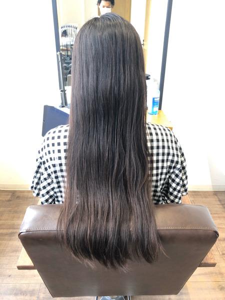 大分県別府市 髪の毛のダメージが少ない酸性の縮毛矯正でサラサラヘアー ビフォー
