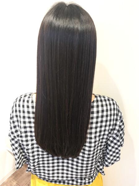 大分県別府市 髪の毛のダメージが少ない酸性の縮毛矯正でサラサラヘアー アフター