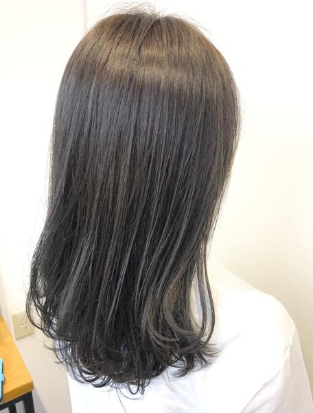大分県別府市 キンキンに明るくなった髪の毛を暗めのアッシュグレージュに アフター