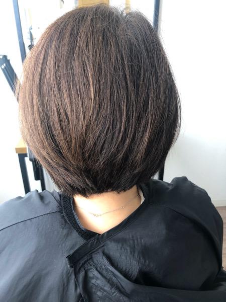 大分県別府市 定期的なカットで髪の毛のメンテナンス ビフォー