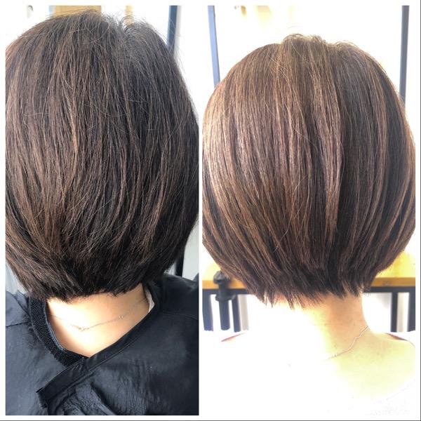 大分県別府市 定期的なカットで髪の毛のメンテナンス ビフォーアフター