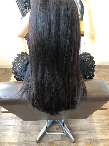 大分県別府市 暗めカラーでも透明感のある髪色【スモーキーマットベージュ】 ビフォー