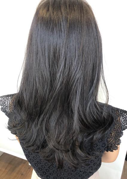 大分県別府市 暗めカラーでも透明感のある髪色【スモーキーマットベージュ】 アフター