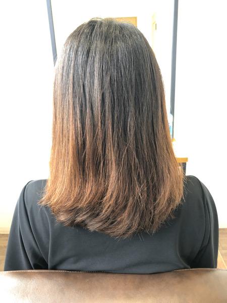 大分県別府市 髪の毛が明るくなりやすい方にオススメの黒っぽいヘアカラー【暗めダークグレー】 ビフォー